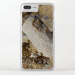 Coral Rest in Pieces Clear iPhone Case