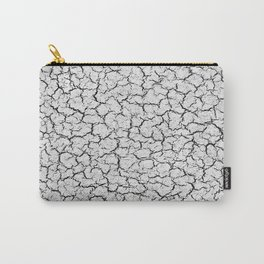 Cracked Abstract Print Texture Carry-All Pouch