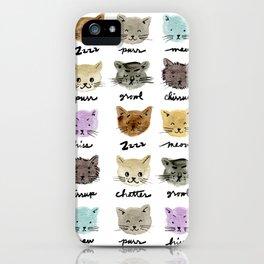 Kitty Language iPhone Case