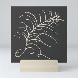 loopy feather Mini Art Print