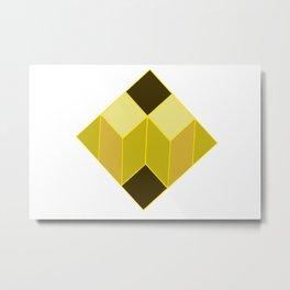 dear white cube yellow spectrum Metal Print