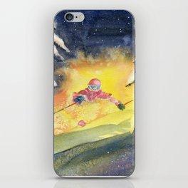 Skiing Art iPhone Skin