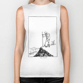 Moses scribble art Biker Tank