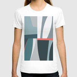Organic Geometric 01 Blue T-shirt
