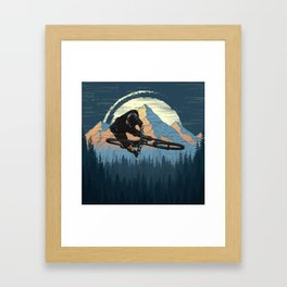 MTB Trick Framed Art Print
