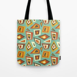 African Abstract Geometric Retro Tote Bag