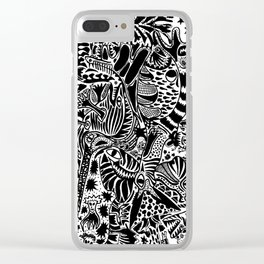 Antuan Rene Chaos style 1, Cuban chaotic art, Graphic Absurd, disorder Clear iPhone Case
