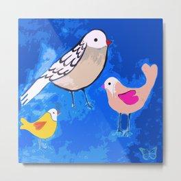Pajaritos 2 (Birds 2) Metal Print