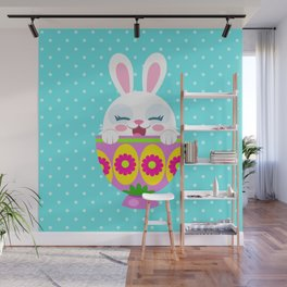 bunny in egg Wall Mural
