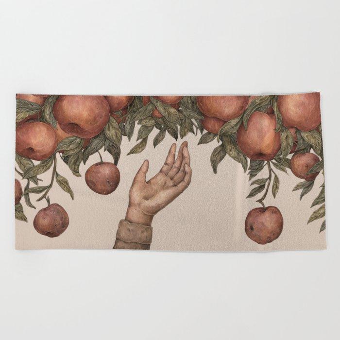 Apple Picking Beach Towel