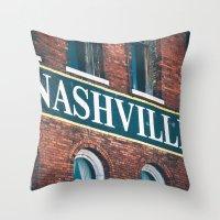 nashville Throw Pillows featuring Nashville by GF Fine Art Photography