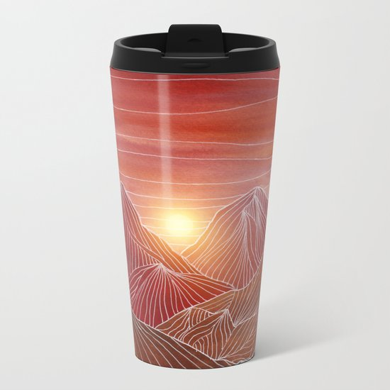 Lines in the mountains VI Metal Travel Mug
