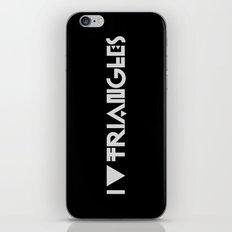 I Heart Triangles iPhone & iPod Skin
