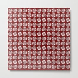Red pattern - background abstract, vector, circle texture design. Metal Print