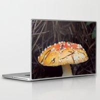 mushroom Laptop & iPad Skins featuring Mushroom  by Dee Reimer