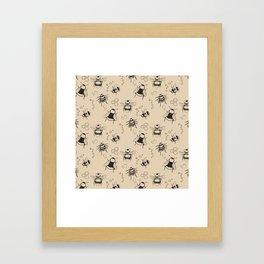 Honeybee Pattern Framed Art Print