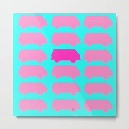 Repeating Westfalia Painted Photo Image Neon Pop-Art Metal Print