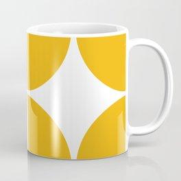 Mid Century Modern Yellow Square Coffee Mug