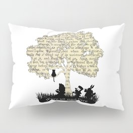 We're All Mad Here II - Alice In Wonderland Silhouette Art Pillow Sham
