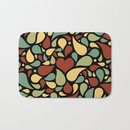 Heart surrounded by drops black pattern Bath Mat