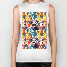 Rabbit colored pattern no2 Biker Tank