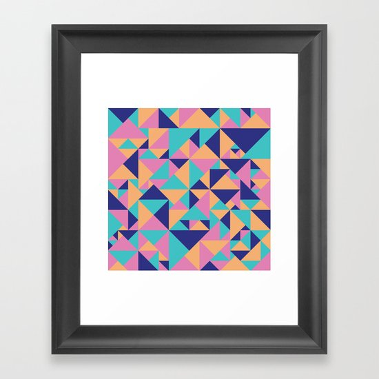 Triangular Framed Art Print
