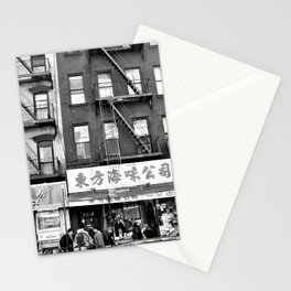 China Town Streets in New York City Stationery Cards