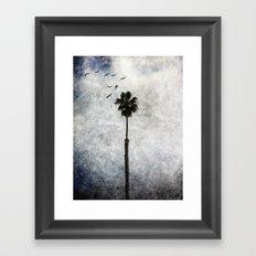 Palm Tree Birds Framed Art Print