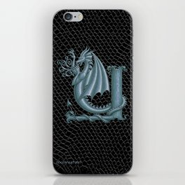 Dragon Letter Y, from Dracoserific, a font full of Dragons iPhone Skin