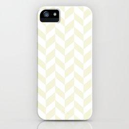 HERRINGBONE (BEIGE & WHITE) iPhone Case