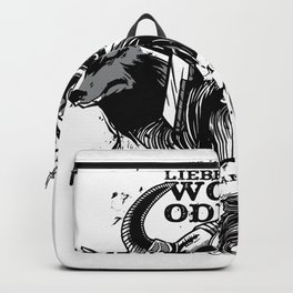 Better a wolf Odin Viking as a Lamb of God saying Backpack