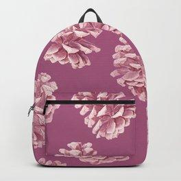 Blushing Deep Pine Cones Backpack