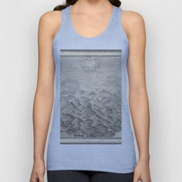 Vintage Print - A comparative view of some of the principal hills in Great Britain (1837) Unisex Tank Top