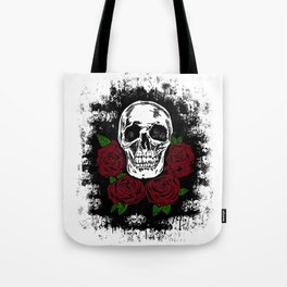 Skull and Rose Tote Bag