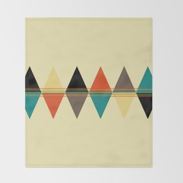 Retro sunset Throw Blanket