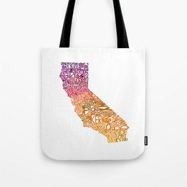 Typographic California - Autumn Tote Bag