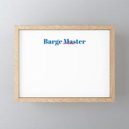 Barge Master in Action Framed Mini Art Print
