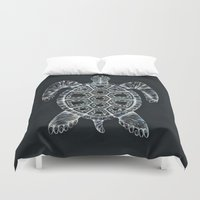 turtle Duvet Covers featuring Turtle by Adrianna Grężak