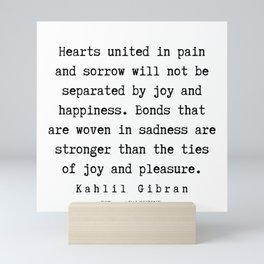 22   | Kahlil Gibran Quotes | 190701 Mini Art Print