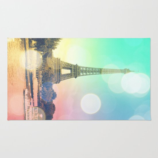 Paris. : Pastel Rainbow Bokeh Rug