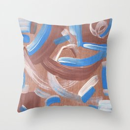 Falling Water Abstract Throw Pillow