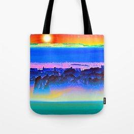 Alien Sunset Tote Bag