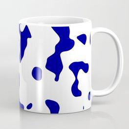 Large Spots - White and Dark Blue Coffee Mug