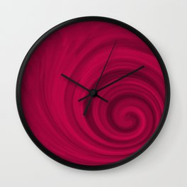 Red abstract pattern Wall Clock