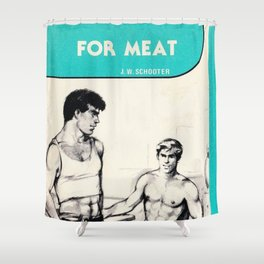 Dial M for Meat Shower Curtain