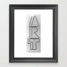 Wire Art Framed Art Print