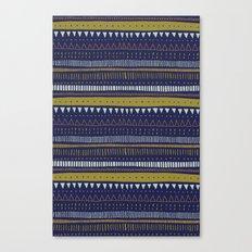 Dark Blue Pattern Canvas Print
