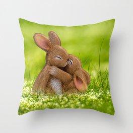 Easter Bonny | Lapin de Pâques Throw Pillow