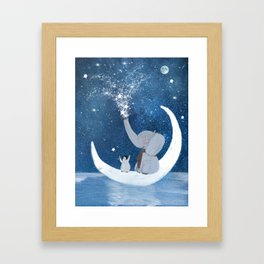 shooting stars Framed Art Print