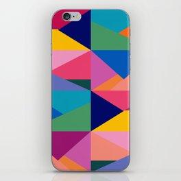 Geometric Color Block iPhone Skin